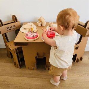 KarTent Kartonnen Set Kindertafel en Kinderstoelen