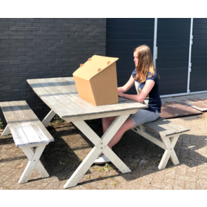 KarTent Cardboard Sun Shade for on the Table