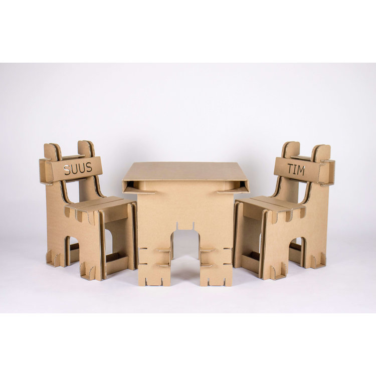 KarTent Cardboard Set Kids Table and Kids Chairs