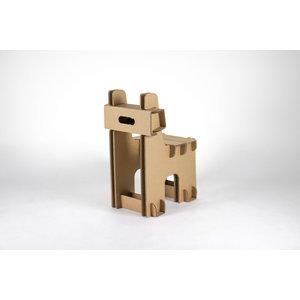 KarTent Kartonnen Blok Kinderstoel met naam