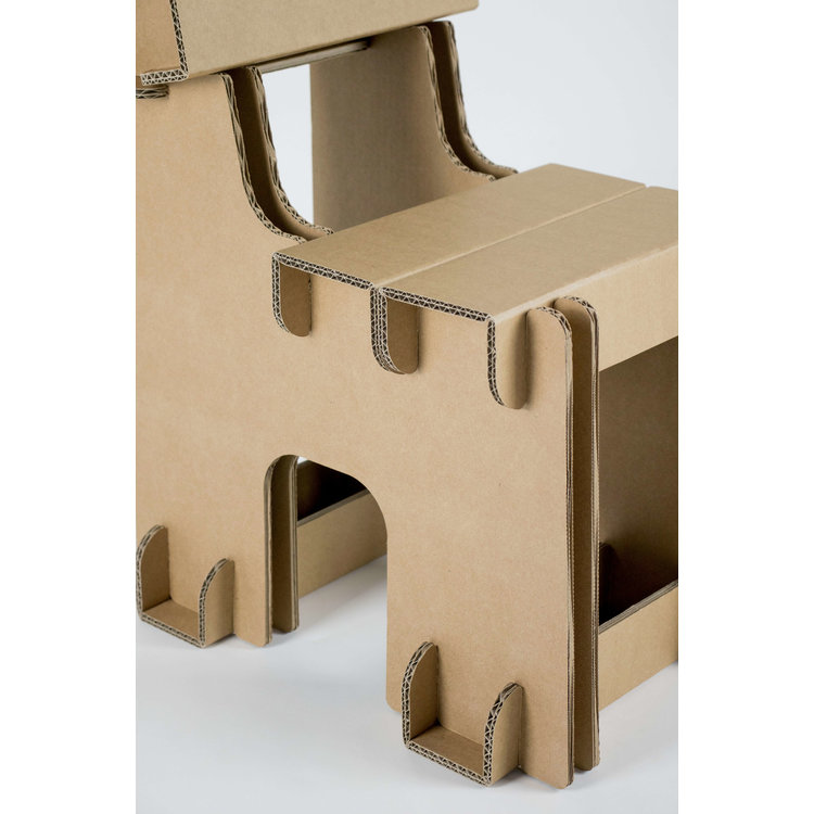 KarTent Cardboard Block Kids Chair with name