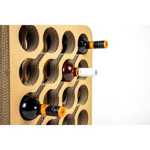 KarTent cardboard Wine Rack Wave
