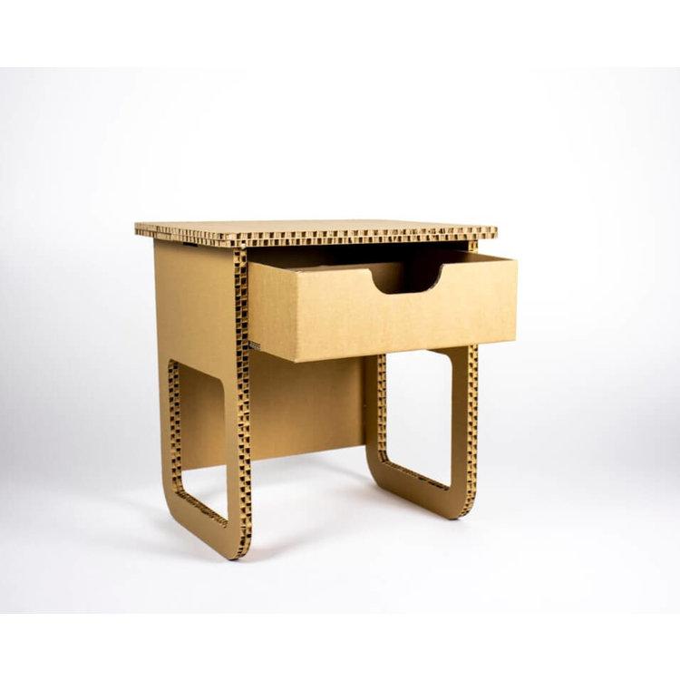KarTent Cardboard Open Bedside Table