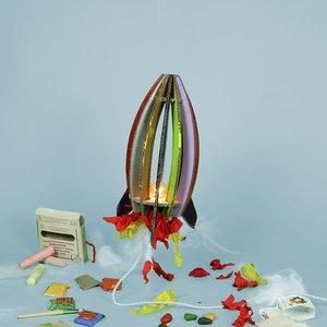 KarTent Cardboard Craft Kit Meise Rocket Lamp