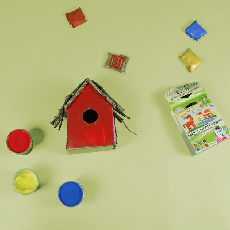 KarTent Craft Kit Cardboard Birdhouses 5x