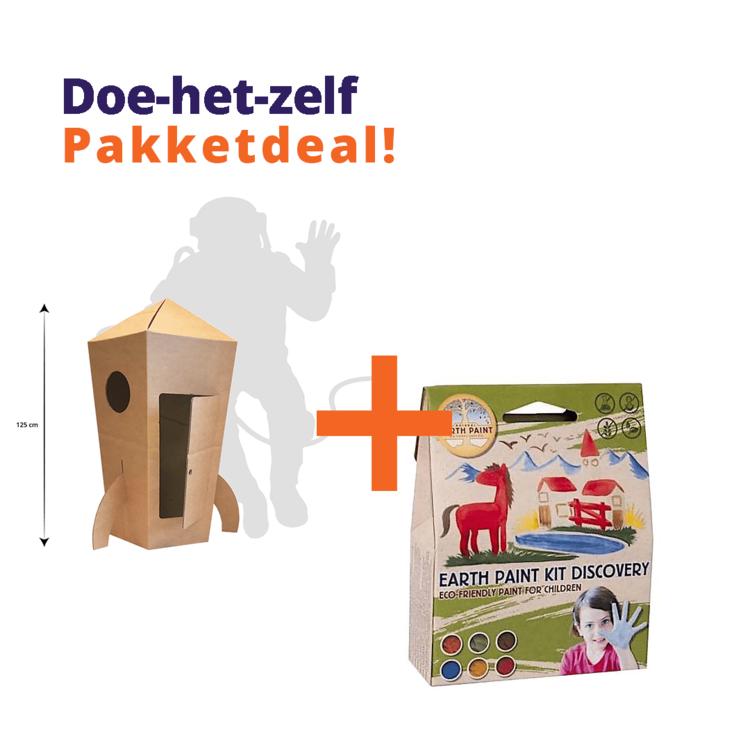 KarTent Craft Kit Cardboard Rocket