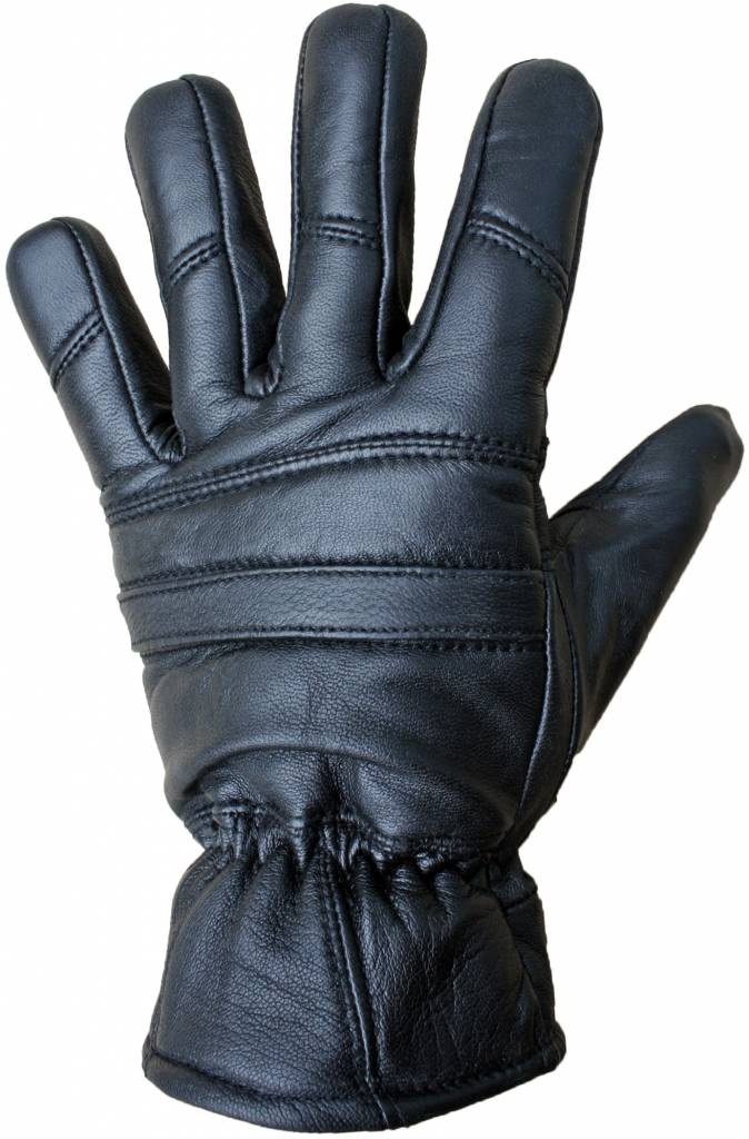 Zwarte Leren Handschoenen Thinsulate