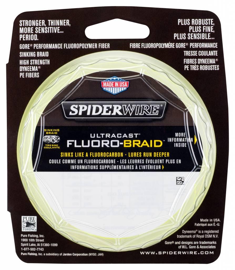 SpiderWire SpiderWire Ultracast Fluorobraid Yellow Dyneema Gevlochten Lijn