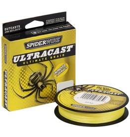 SpiderWire SpiderWire UltraCast Hi-Vis Yellow Gevlochten Visdraad