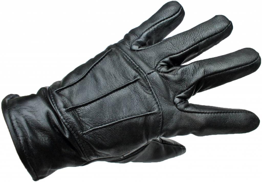 Zwarte Leren Handschoenen Heren Dames