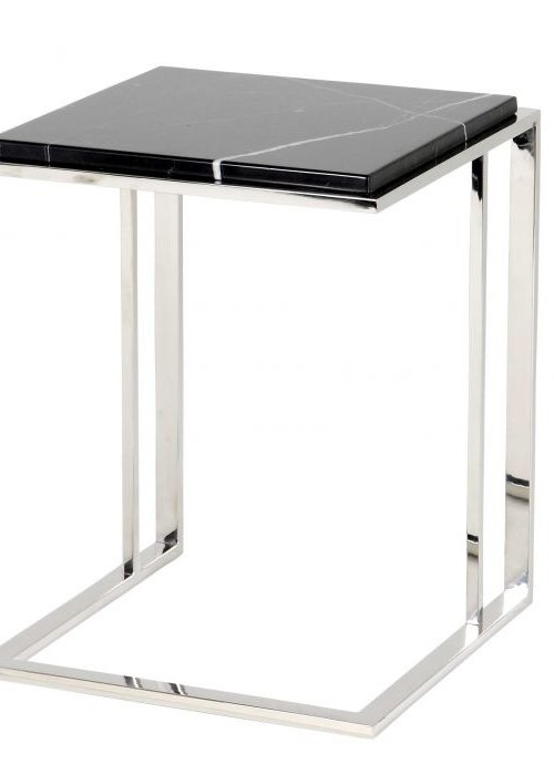 Side Table - Marble Silver
