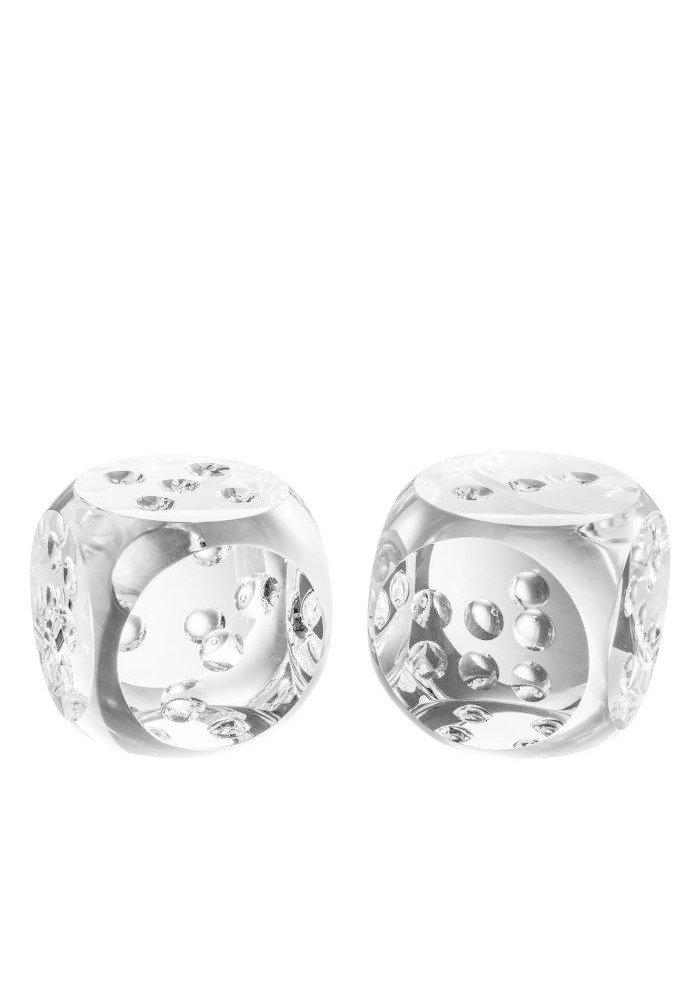 Kristallen Dobbelstenen - Set van 2