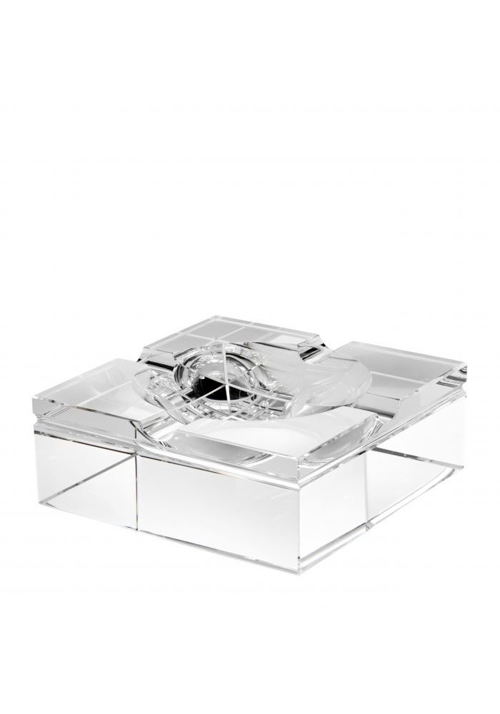Kristallen Asbak -Vierkant