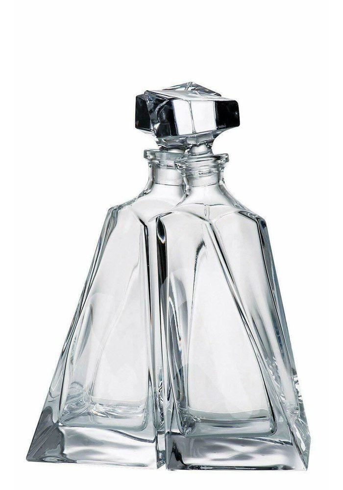 Crystal  Carafe - Brothers - Set of 2