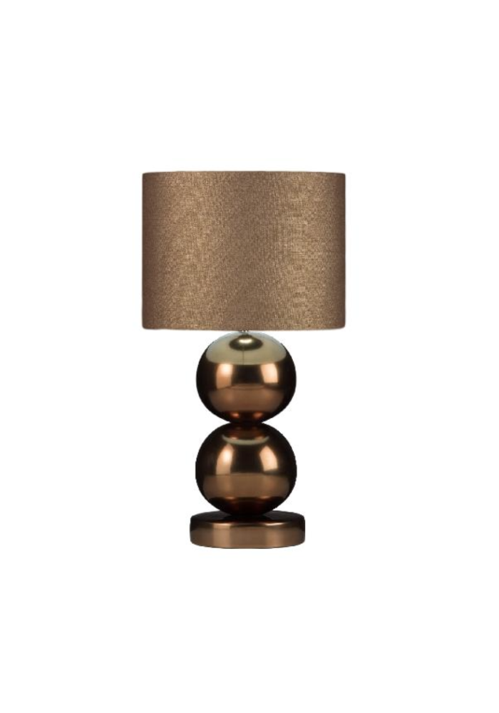 Tafellamp Milano - 2 x  Bol Glans Brons
