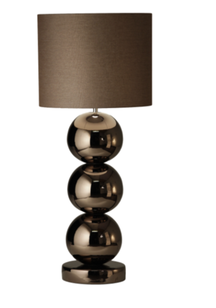 Tafellamp Milano - 3 x  Bol Glans Brons