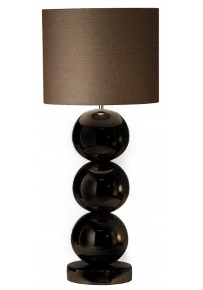 Tafellamp Milano - 3 x  Bol Glans Zwart
