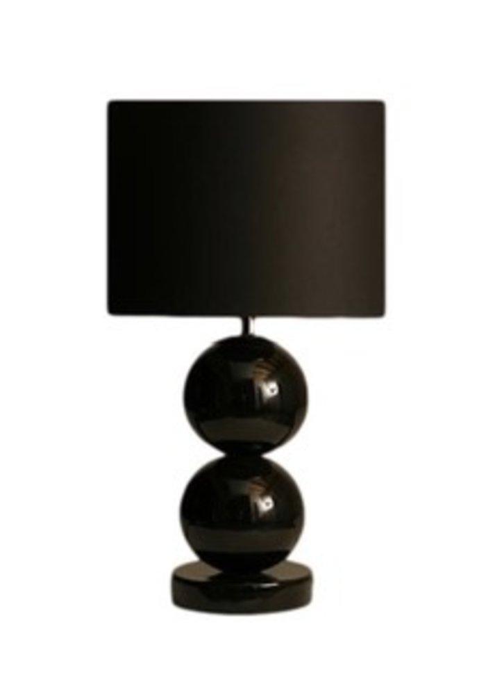 Tafellamp Milano - 2 x  Bol Glans Zwart