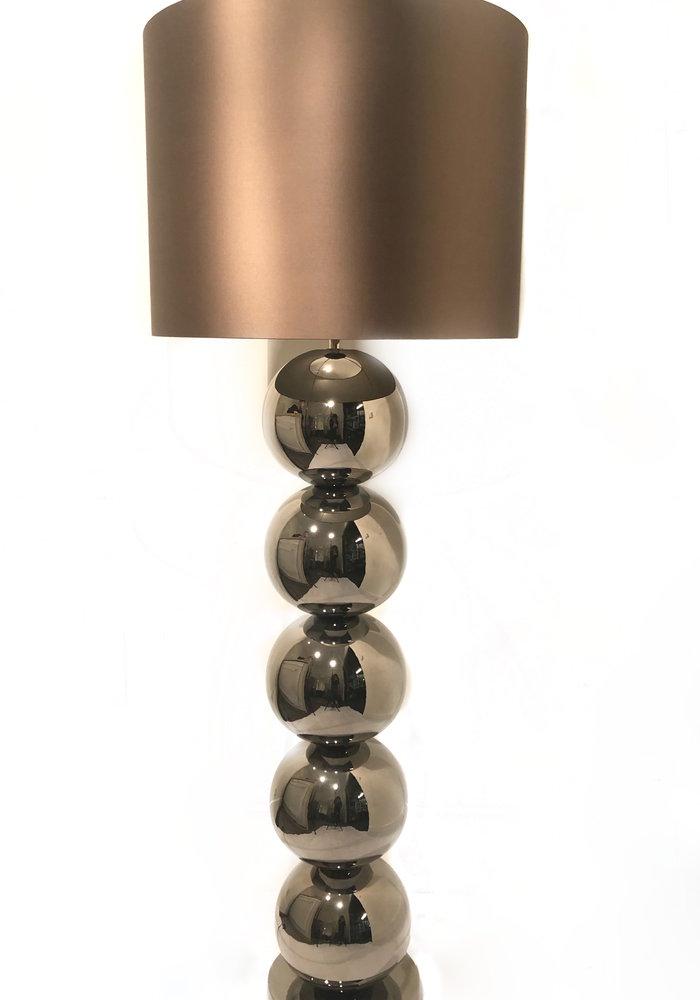 Vloerlamp Milano - 5 x  Bol Glans Nikkel