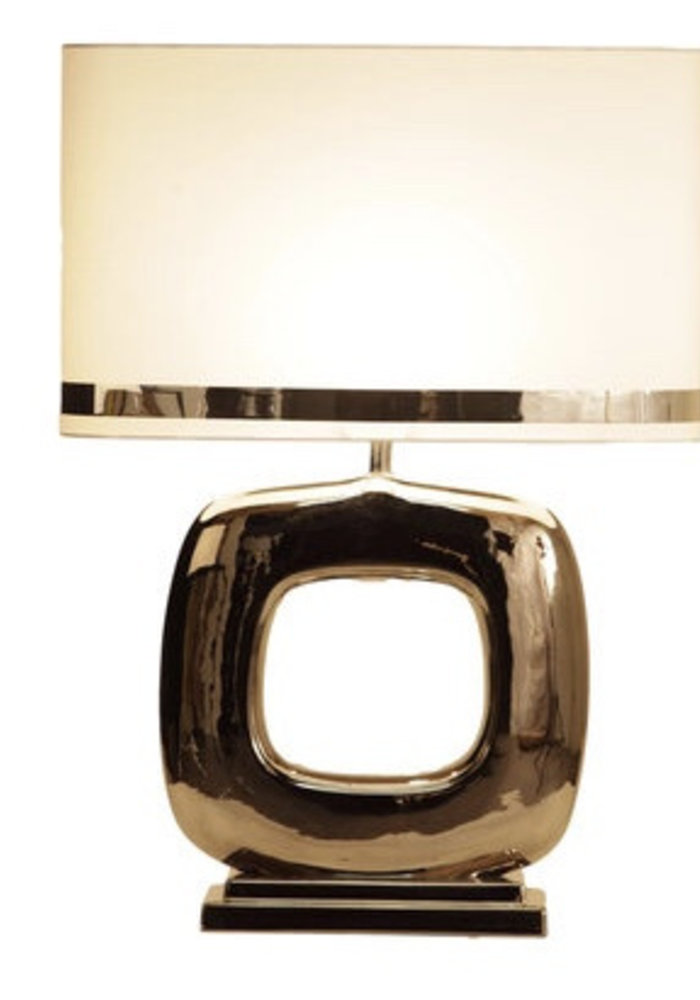 Tafellamp Maxime -  1 x  Blok Glans Nikkel