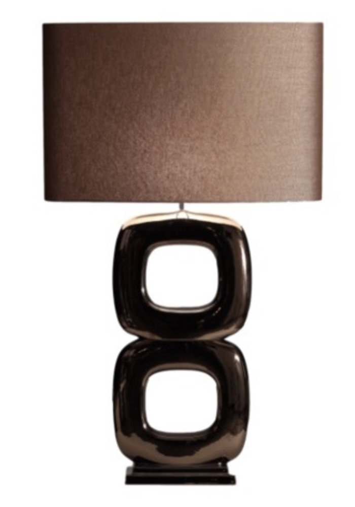 Tafellamp Maxime -  2 x  Blok Glans Brons