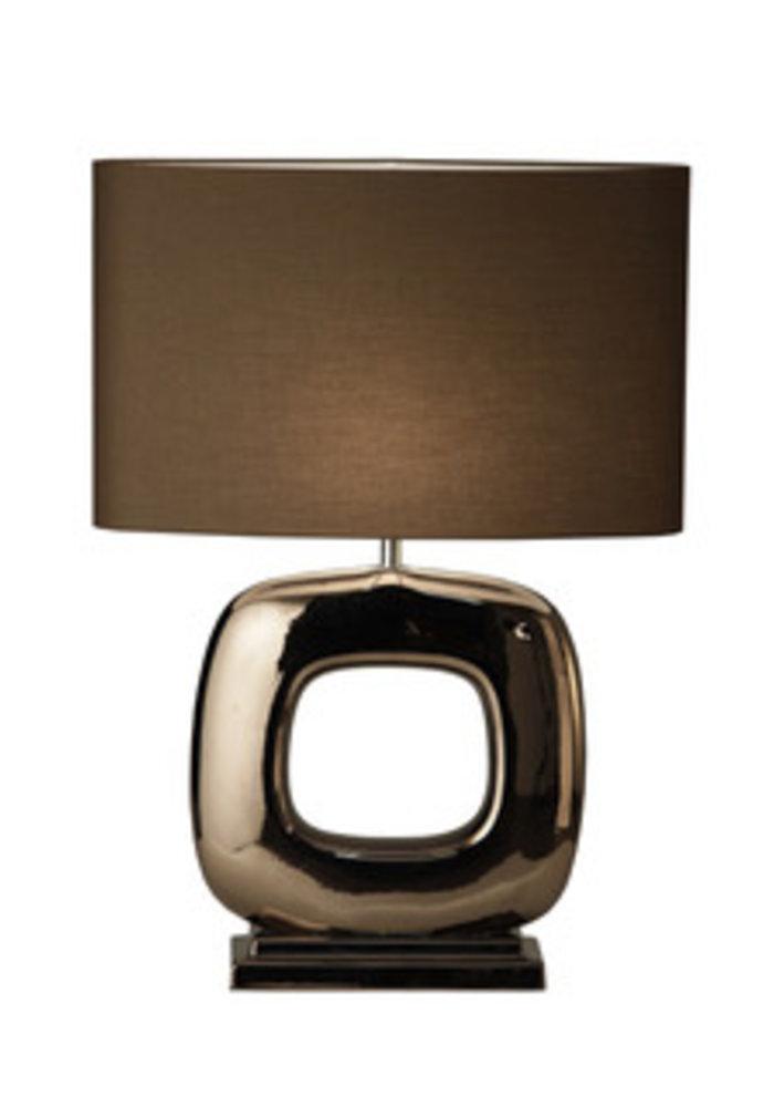 Tafellamp Maxime -  1 x  Blok Glans Brons