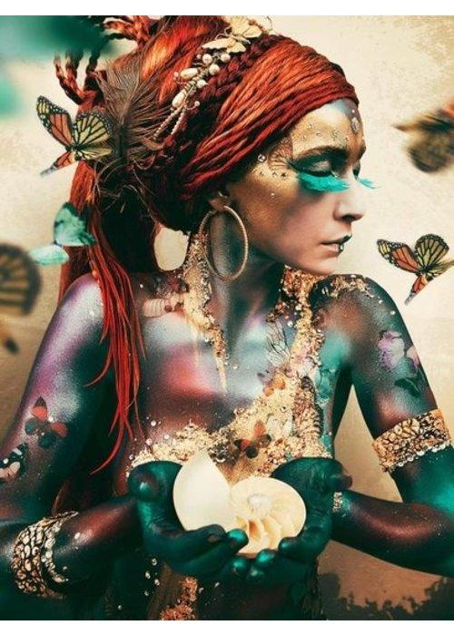 Woman with Butterflies - Art