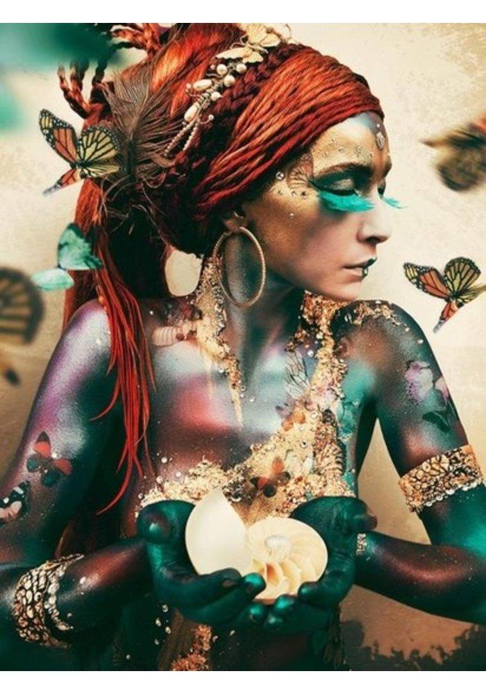 Art - Woman with Butterflies