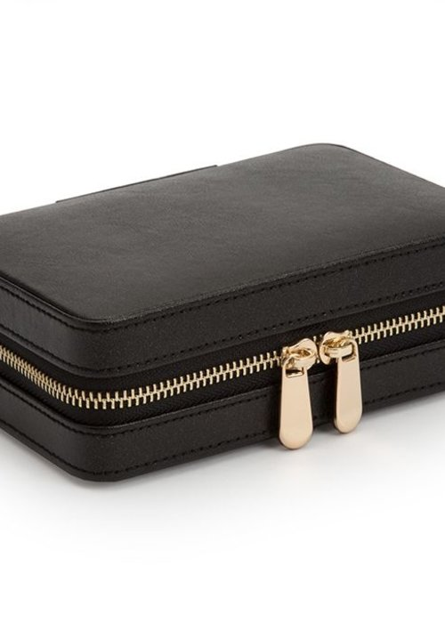Jewellery bag - Black Leather
