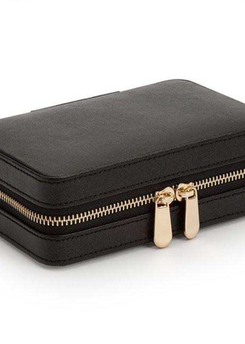 Wolf Jewellery bag - Black Leather
