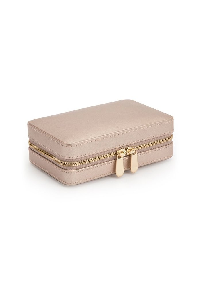 Jewellery bag - Rose Gold Leather