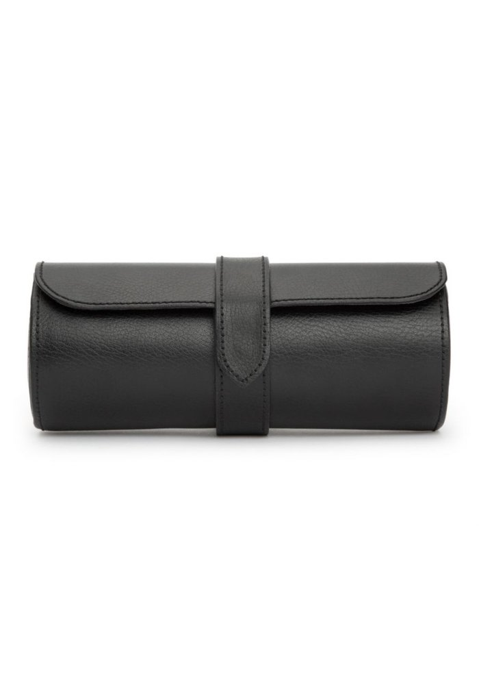 Watch Roll - Black Leather - L