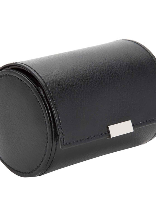 Wolf Watch Roll - Black Leather - M
