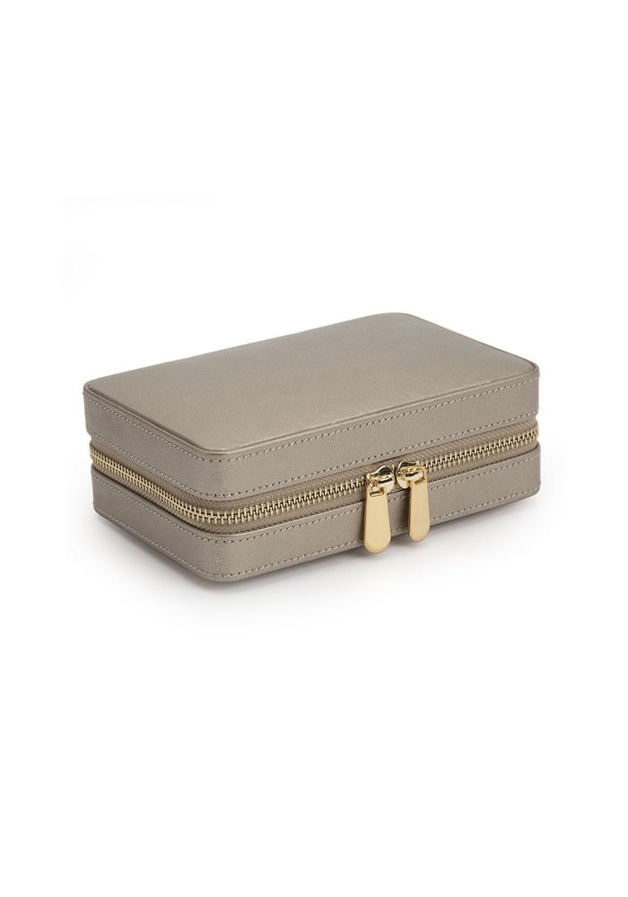 Jewellery bag - Beige Leer