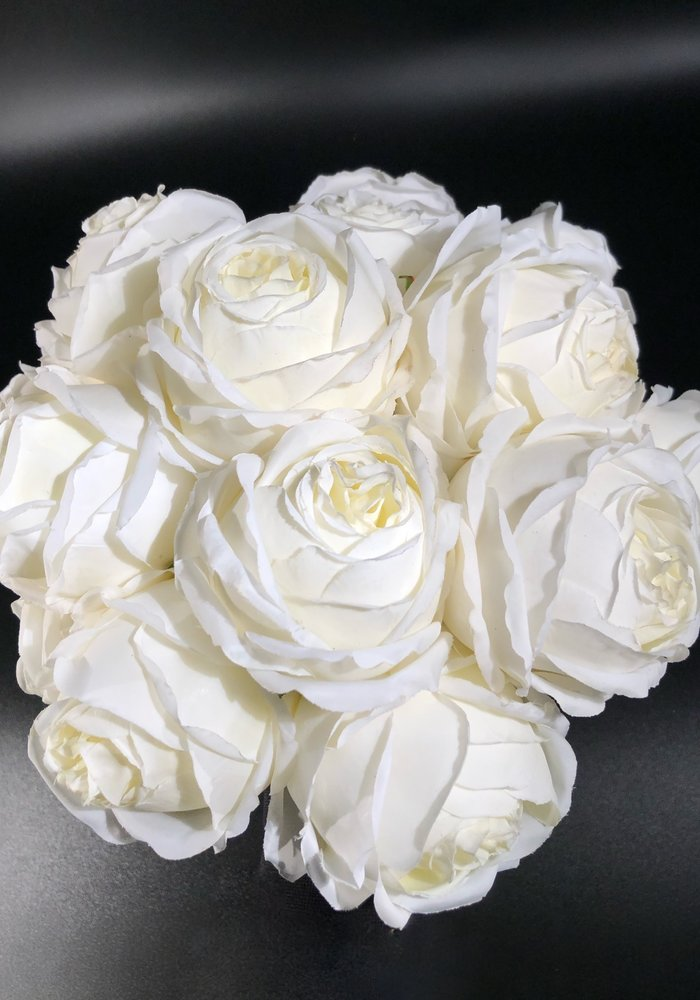 Artificial Peony Rose  - White
