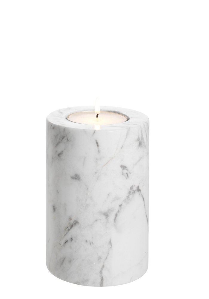 Waxine Houder - Marble Wit - S