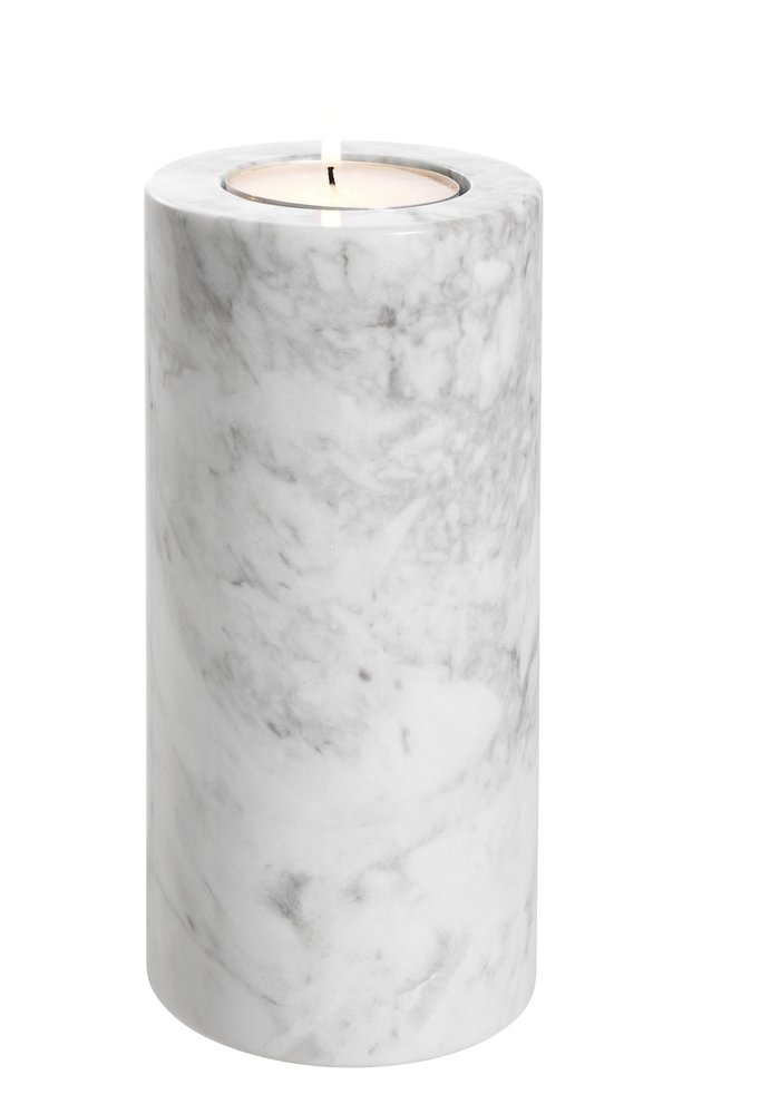 Waxine Houder - Marble Wit L