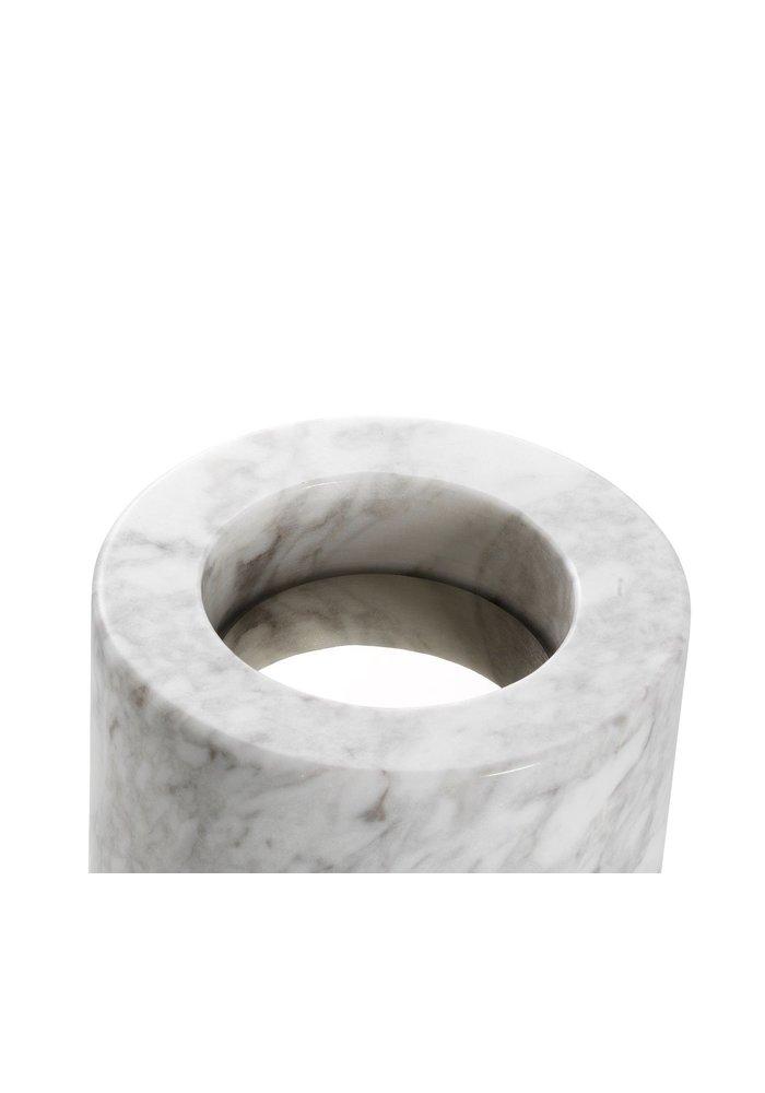 Tealight Holder - Marble White - S