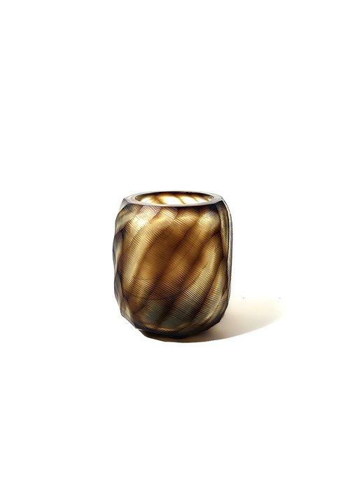 Waxine Houder - Dragged brown