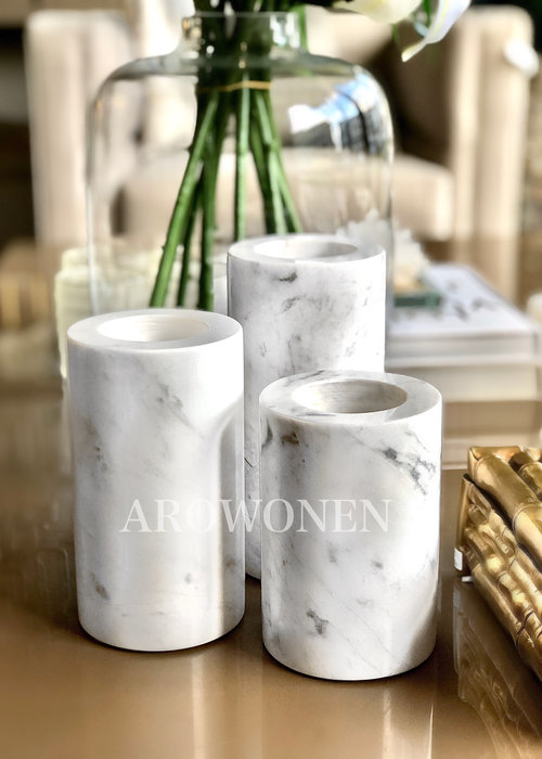 Tealight Holder - Marble S