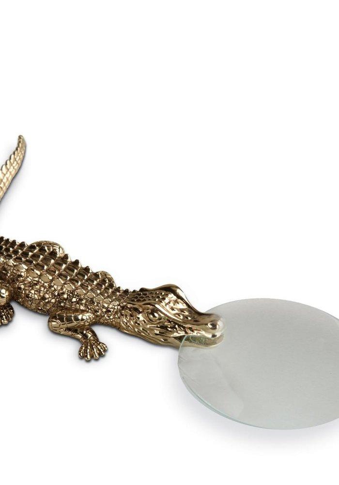 Watch me - Vergroot glas Croco - 24k Gold Plated