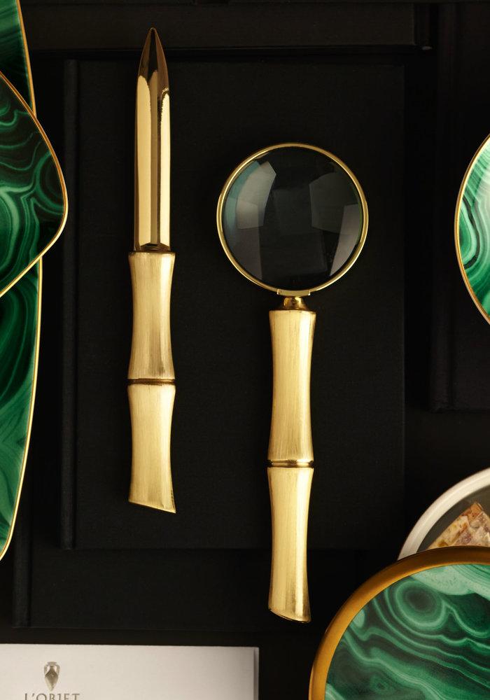 Bamboe vergroot Glas - 24k Gold Plated