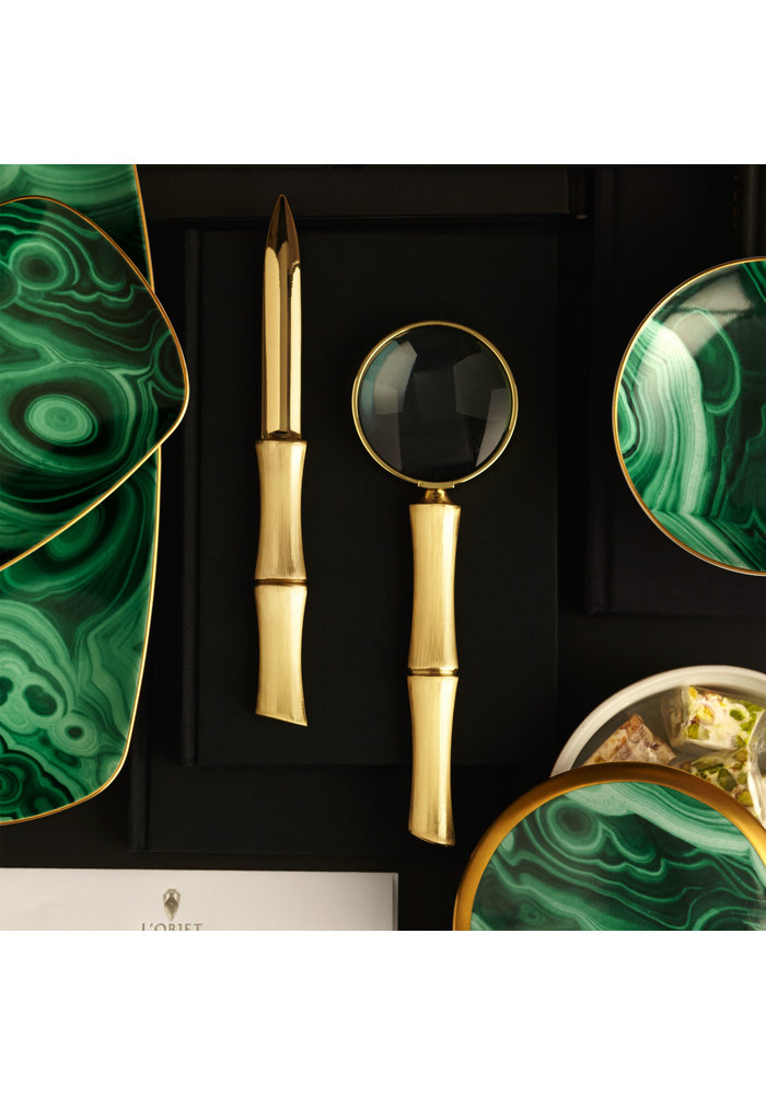 Bamboo Magnifying Glass - 24k Gold Plated