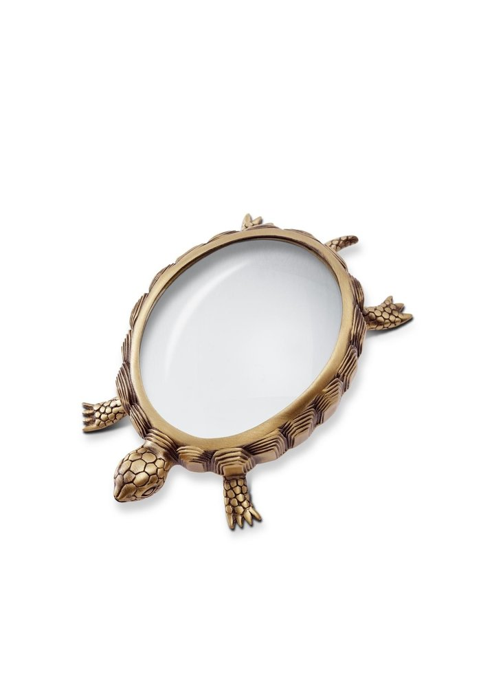 Schildpad - Vergroot Glas Goud