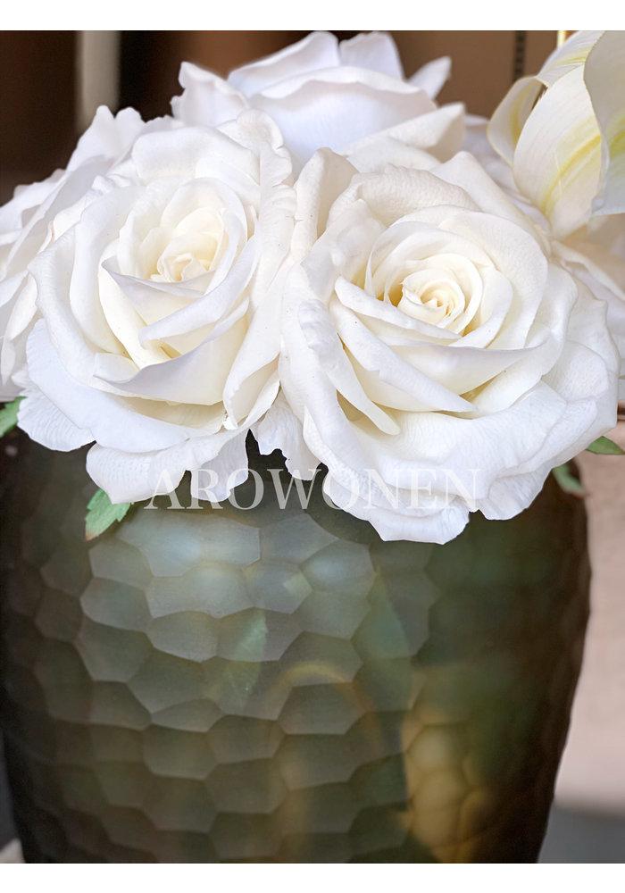 Artificial Rose -  Cleo Soft white