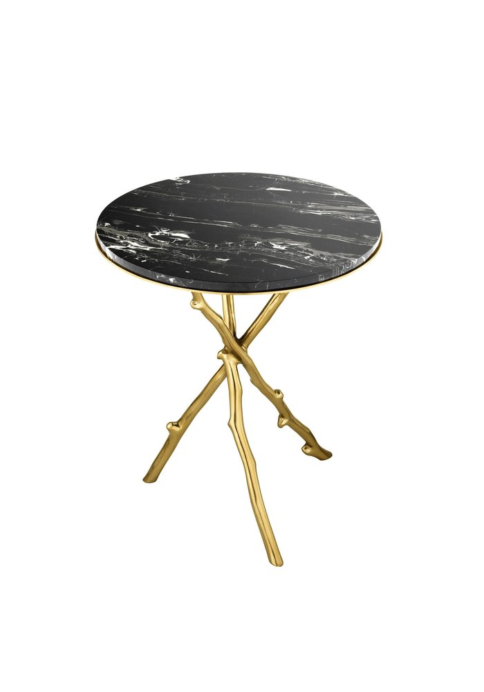 Side Table -  Golden branch -  Marble top