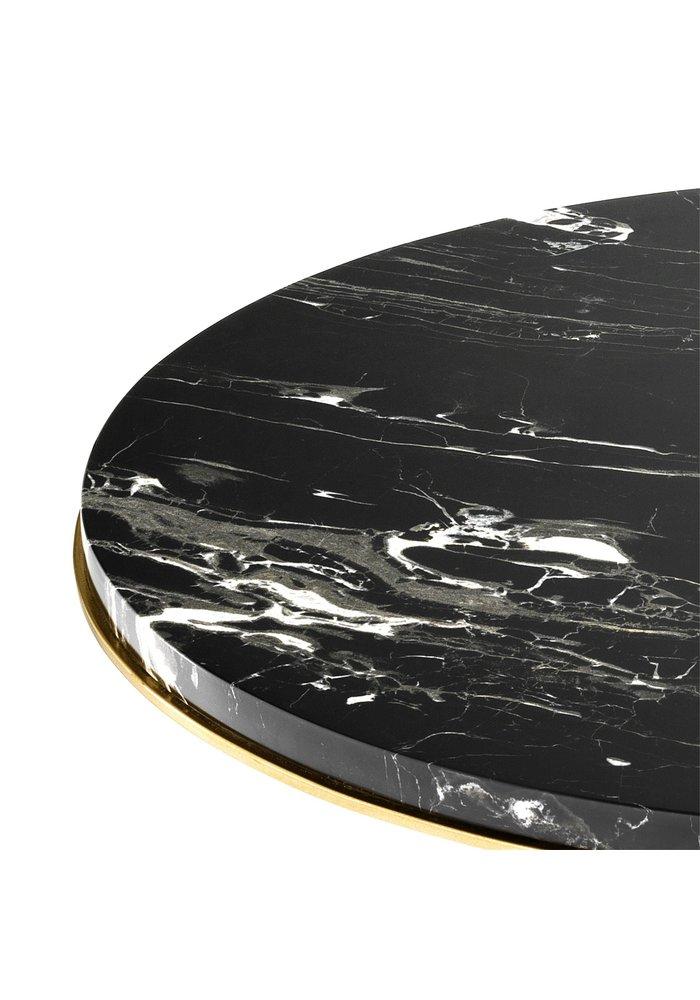 Bijzettafel -  Golden branch -  Marble top