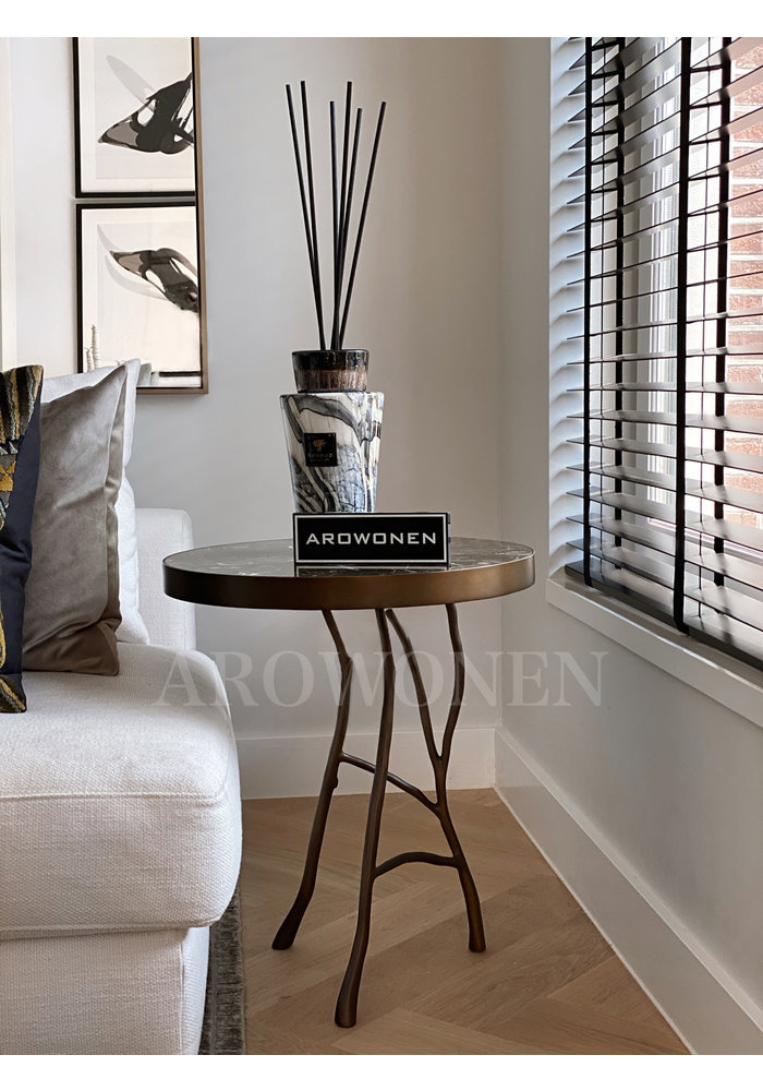 Side Table - Mallory - brown marble top