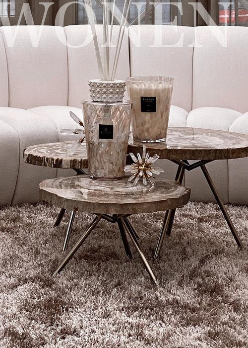 Coffee table Petrified wood - set of 3