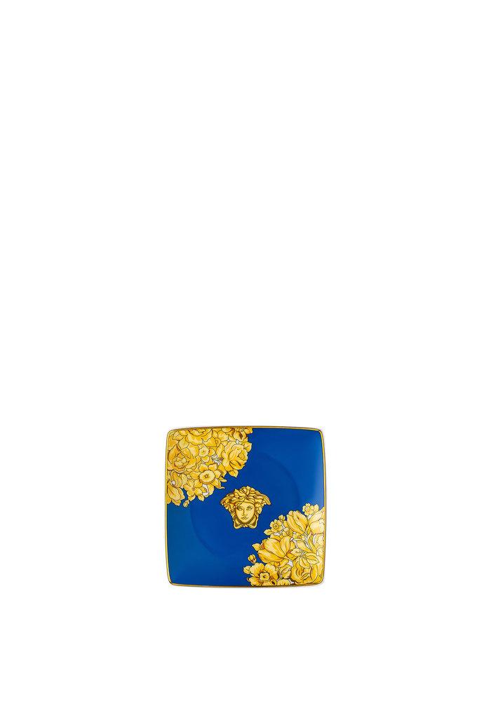Versace Medusa Rhapsody blue  - Square plate 12 cm